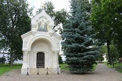 The tomb of the Prince Pozharsky in Spaso-evfimiev monastery in Suzdal. The Golden ring of Russia. The tomb of the Prince Pozharsky in Spaso-evfimiev monastery Royalty Free Stock Image