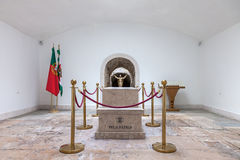 Tomb with the remains of a fallen unknown soldier in the Memorial Chapel Royalty Free Stock Image