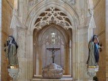 The tomb and remains of the Saint - San Juan de Ortega Stock Photos
