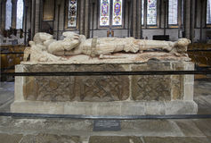 Tomb of Robert Lord Hungerford in Salisbury Cathedral. Robert was a supporter of Henry VI he was captured at the battle of Hexham and executed in 1464.  The Stock Images