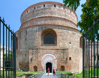 Tomb of Roman Emperor Galerius Rotunda of St. George, Thessaloniki, Greece. THESSALONIKI, GREECE - AUGUST 13, 2014: Unknown people visit Tomb of Roman Emperor stock images