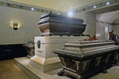 Tomb of Rudolf von Habsburg and Emperor Franz Joseph and Queen E Stock Photos