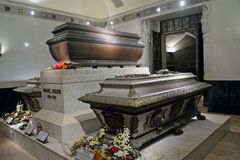 Tomb of Rudolf von Habsburg and Emperor Franz Joseph and Queen E Stock Images