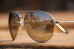 Tomb of Safdarjung in New Delhi, India reflected in sunglasses Royalty Free Stock Image