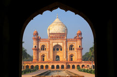Tomb of Safdarjung seen from main gateway, New Delhi, India Royalty Free Stock Images