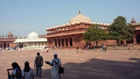 Tomb of Salim Chishti (left) tomb in Jama Masjid courtyard, Fatehpur Sikri Royalty Free Stock Photos