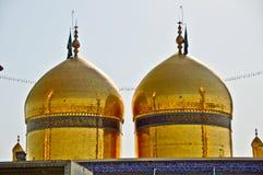 Tomb shrine of Imam Musa al-Kadhim. And Muhammad al-Jawad (peace be upon them) Kadhimiya ... Baghdad Iraq Royalty Free Stock Photography