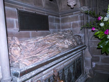 Tomb in St Mary's Parish Church in Nether Alderley Cheshire. Set in the rural countryside of Nether Alderley this Traditional Church and Schoolhouse is royalty free stock photography