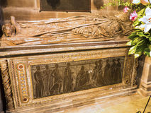 Tomb in St Mary's Parish Church in Nether Alderley Cheshire. Set in the rural countryside of Nether Alderley this Traditional Church and Schoolhouse is stock photos