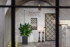The tomb of St. Servatius in Basilica of St. Servatius. Royalty Free Stock Image