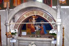 Tomb of Stephen the Great, Putna Monastery, Suceava. Royalty Free Stock Photo