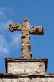 Tomb stone cross Stock Photo