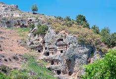 Tomb stone in Tlos, Turkey 3 Stock Photos