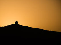 A tomb at sunset alongside the River nile Stock Photos