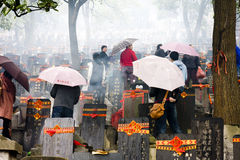 Tomb-sweeping Day. The scene of Chinese people celebrate Tomb-sweeping Day Royalty Free Stock Photography