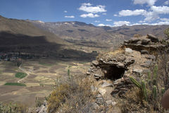 Tomb in the Terraces of Colca Canon Royalty Free Stock Photos
