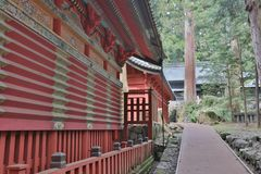 The tomb of Tokugawa Ieyasu in Tosho-gu shrine. The first shogun Tokugawa Ieyasu are entombed here Stock Photos