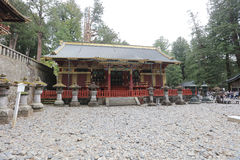 The tomb of Tokugawa Ieyasu in Tosho-gu shrine. The first shogun Tokugawa Ieyasu are entombed here Stock Images