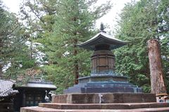 The Tomb of Tokugawa Ieyasu in Tosho gu. Tomb of Tokugawa Ieyasu in Tosho-gu shrine in Nikko Royalty Free Stock Image