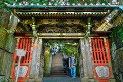 The tomb of Tokugawa Ieyasu in Tosho-gu shrine in Nikko, Japan. NIKKO, JAPAN - NOVEMBER 17, 2015: The final resting place of Tokugawa Ieyasu, the first Shogun of Royalty Free Stock Photography