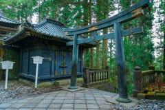 The tomb of Tokugawa Ieyasu in Tosho-gu shrine in Nikko, Japan. The tomb of Tokugawa Ieyasu in Tosho-gu shrine in Nikko, Tochigi, Japan Stock Photo