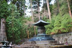 The Tomb of Tokugawa Ieyasu in Tosho gu. Tomb of Tokugawa Ieyasu in Tosho-gu shrine in Nikko Royalty Free Stock Photography