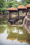 Tomb of Tu Duc emperor in Hue, in a rainy day, Vietnam - A UNESC Stock Photos