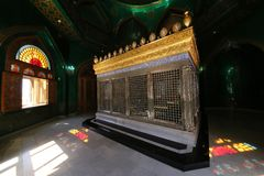 Tomb of Ukeyma-khanum in the Bibi-Heybat mosque. Baku, Azerbaijan - 06.24.2018: Tomb of Ukeyma-khanum in the Bibi-Heybat mosque stock images
