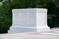 The Tomb of the Unknown at Arlington National Cemetery. The Tomb of the Unknown Soldier at Arlington National Cemetery Stock Images