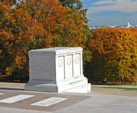Tomb of Unknown National Cemetery Arlington. View of the National Cemetery in Arlington Virginia. The cemetery is the final resting place for American servicemen Stock Images