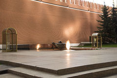 Tomb of the Unknown Soldier in the Alexander Garden. Moscow, Russia Stock Photos