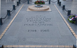 Tomb of the Unknown Soldier - Arc de Triomphe, Paris Royalty Free Stock Photos