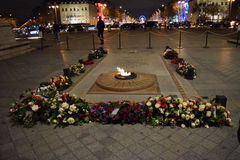 Tomb of the Unknown Soldier, Arc de Triomphe, Paris, December arc. Arc de Triomphe, Paris, Champs-Élysées, tomb Stock Image