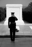 Tomb of the unknown soldier, Arlington. Soldier at the tomb of the unknown, Arlington Cemetery, Washington DC Stock Images