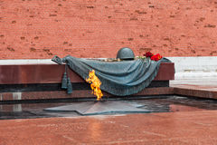 Tomb of the Unknown Soldier with eternal flame Royalty Free Stock Photography