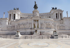 The tomb of the unknown soldier with eternal flame at Piazza Venezia Royalty Free Stock Images