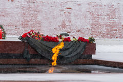 Tomb of the Unknown Soldier and the Eternal light Stock Images