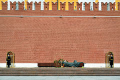 Tomb of the Unknown Soldier at the Kremlin Wall, Moscow Royalty Free Stock Photo