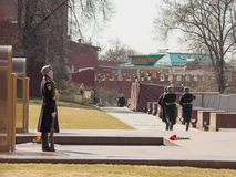 Tomb of the Unknown Soldier in Moscow Stock Image