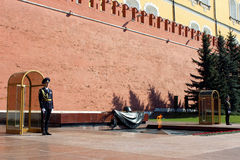 Tomb Unknown Soldier, Moscow. Royalty Free Stock Images