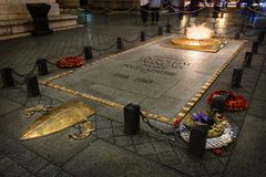 Tomb of the Unknown Soldier In Paris Stock Photos