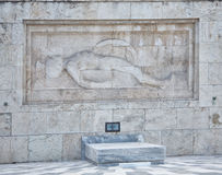 Tomb of the unknown soldier at presidential palace, athens, greece Royalty Free Stock Photo