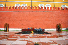 Tomb of the Unknown Soldier at the wall of Kremlin Royalty Free Stock Photography