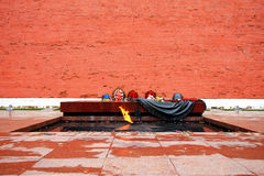 Tomb of the Unknown Soldier at the wall of Kremlin Stock Image
