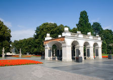 Tomb of the Unknown Soldier - Warsaw. Tomb of the Unknown Soldier in Warsaw.Constructed as the arcade of Saxon Palace, which was destroyed in 1944. Contains the royalty free stock photos