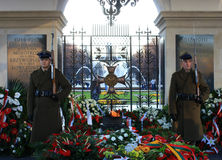 Tomb of the Unknown Soldier in Warsaw Stock Image