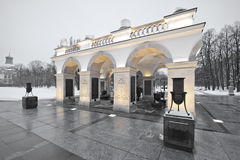 Tomb of the Unknown Soldier in Warsaw. During winter time Royalty Free Stock Images