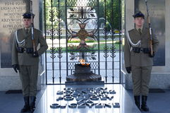 The Tomb of the Unknown Soldier in Warsaw Royalty Free Stock Photo
