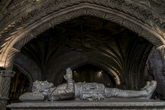 Tomb of Vasco da Gama in the Jeronimos monastery in Lisbon Stock Photography