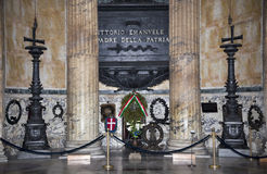 Tomb of Victor Emanuel II at the Pantheon.Rome Royalty Free Stock Images